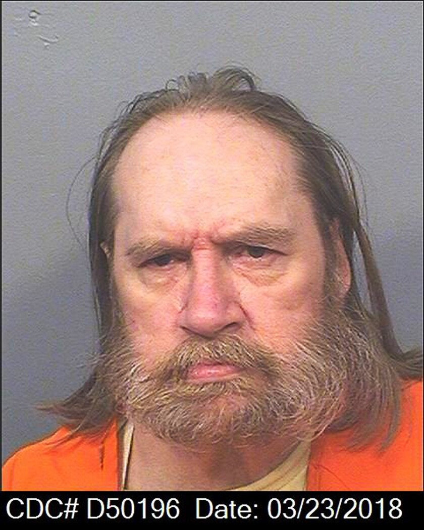 This March 28, 2018 photo released by the California Department of Corrections and Rehabilitation shows Donald R. Millwee. Millwee, a California inmate has died of natural causes while awaiting execution for killing his physically disabled mother, officials said Wednesday, July 28, 2021. Millwee died at an outside hospital Tuesday evening, correctional officials said. (California Department of Corrections and Rehabilitation via AP)