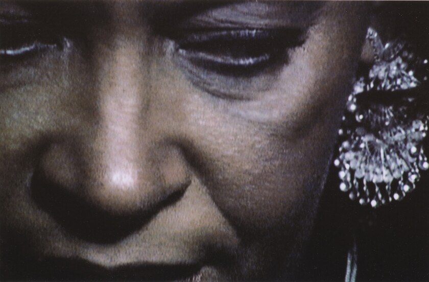 """A still from Carrie Mae Weems, """"Coming Up for Air,"""" 2003-04."""