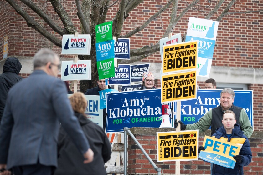 New Hampshire voters turn out in record number for Democratic presidential primary election