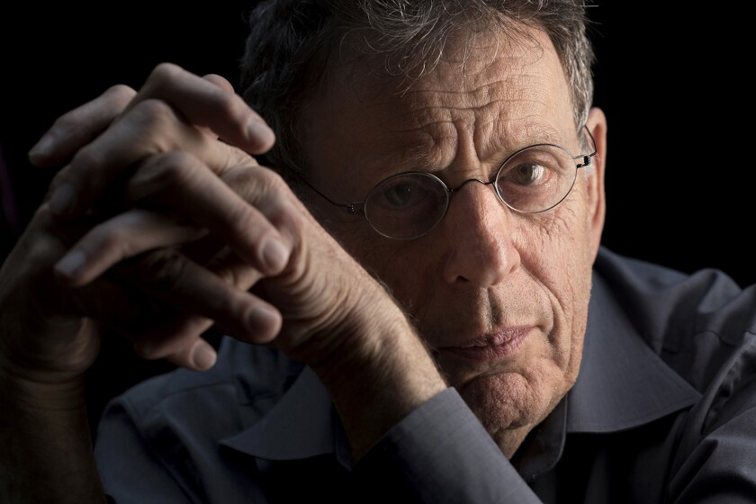 "NEW YORK, NEW YORK--SEPT. 19, 2013--Phillip Glass, who will perform ""Einstein on the Beach"" this wee"