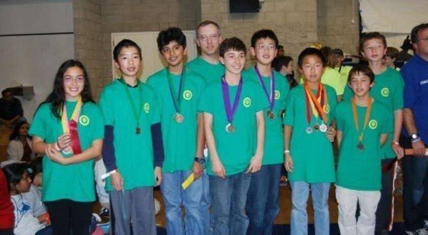 The team with coach Karl Francis after winning medals
