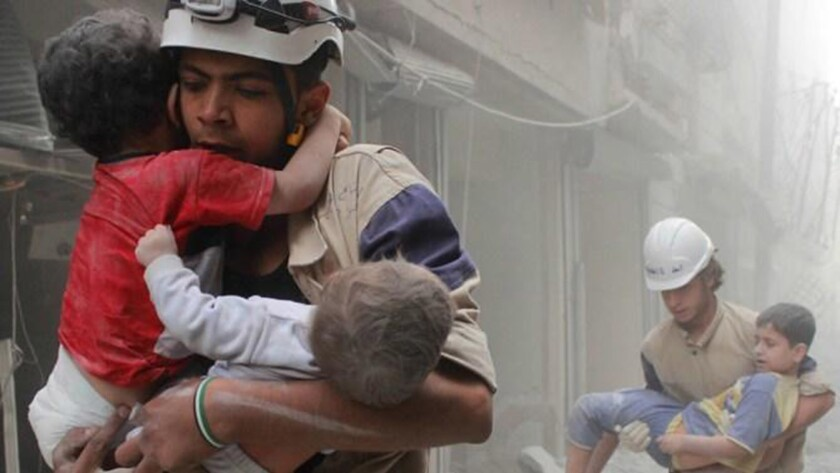 """An image from Evgeny Afineevsky's children-centric war documentary """"Cries From Syria."""""""