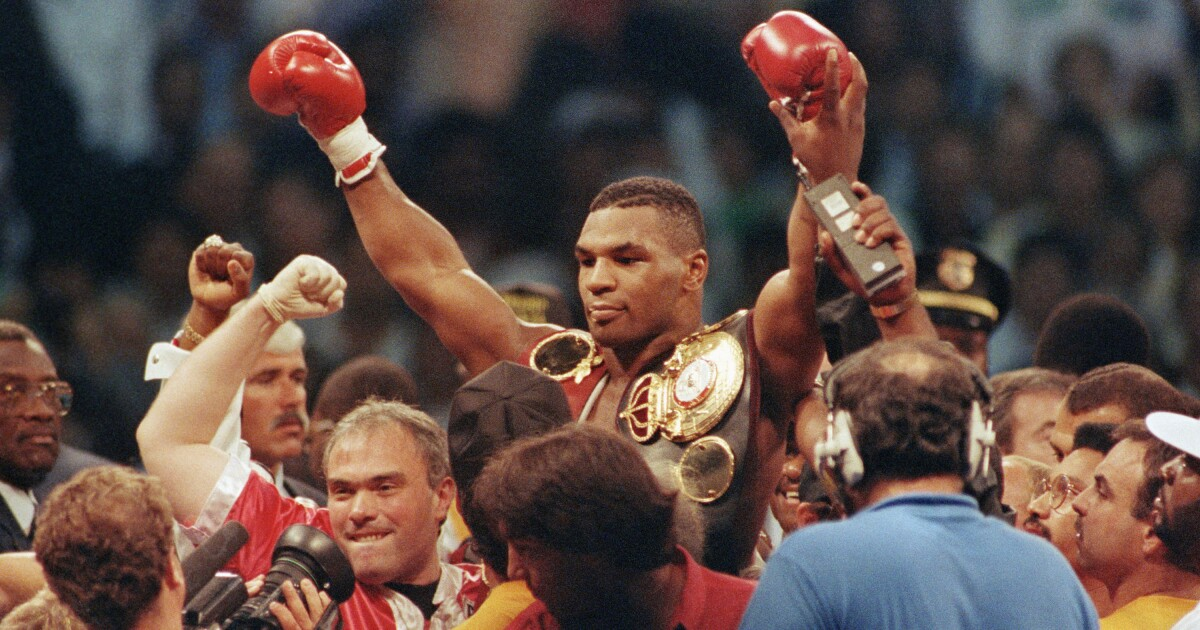 This Day In Sports Mike Tyson Needs 93 Seconds To Win Fight Los Angeles Times