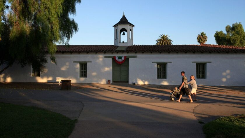 The Casa de Estudillo was built in 1829 and restored after the turn of the 20th century.