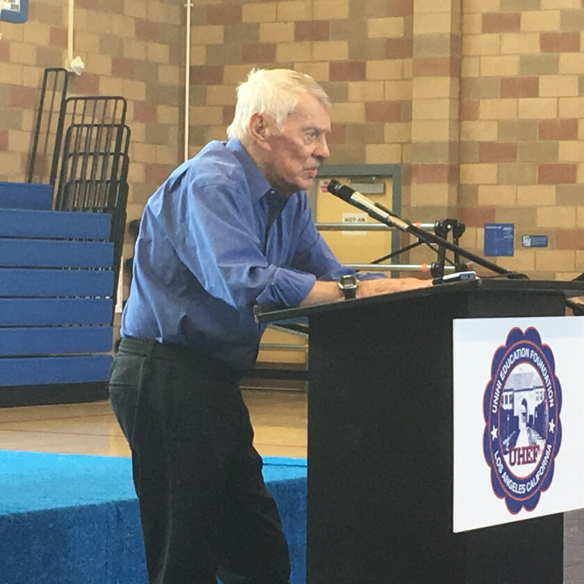 Former University cross country/track Coach Dick Kampmann was honored at a luncheon on Sunday.
