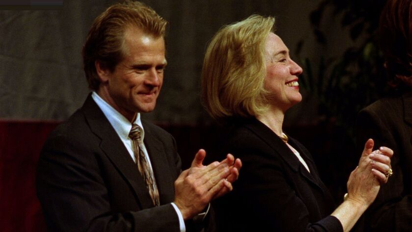 "Peter Navarro, an economic adviser to Donald Trump, once described this 1996 event where Hillary Clinton campaigned for his failed congressional run as ""heavenly."""