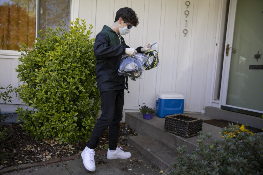 Virus Outbreak One Good Thing Students' Masks