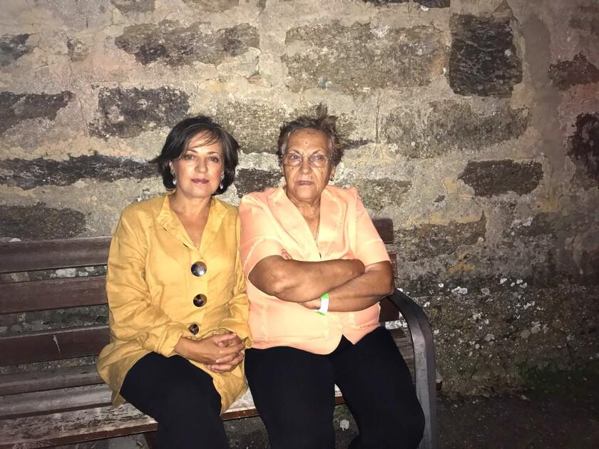 Gloria Delgado and her daughter Carmen in Valparaiso, Spain