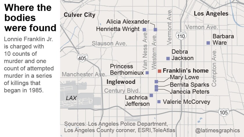 Grim Sleeper victims: Where they were found