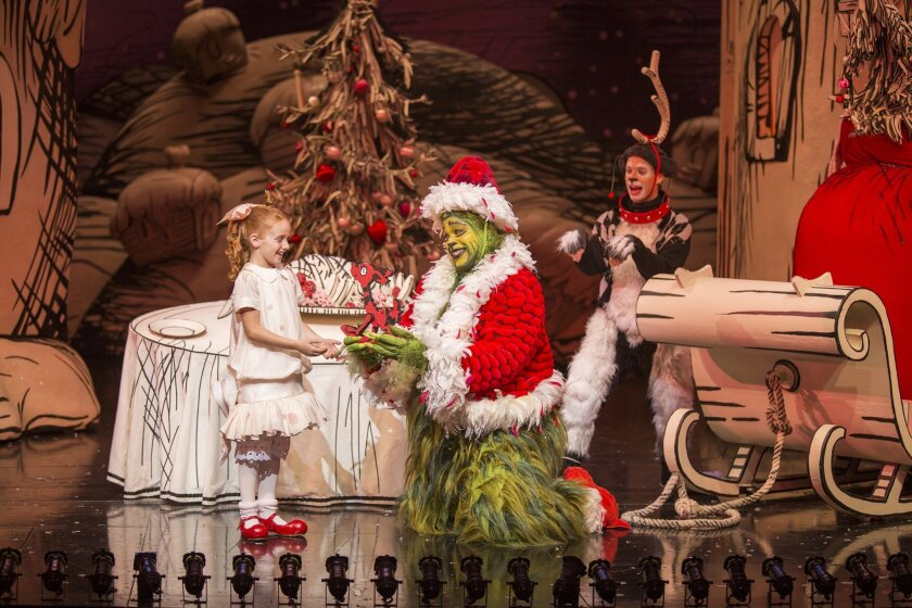 "Taylor Coleman performing in ""How the Grinch Stole Christmas!"" Photo by Jim Cox"