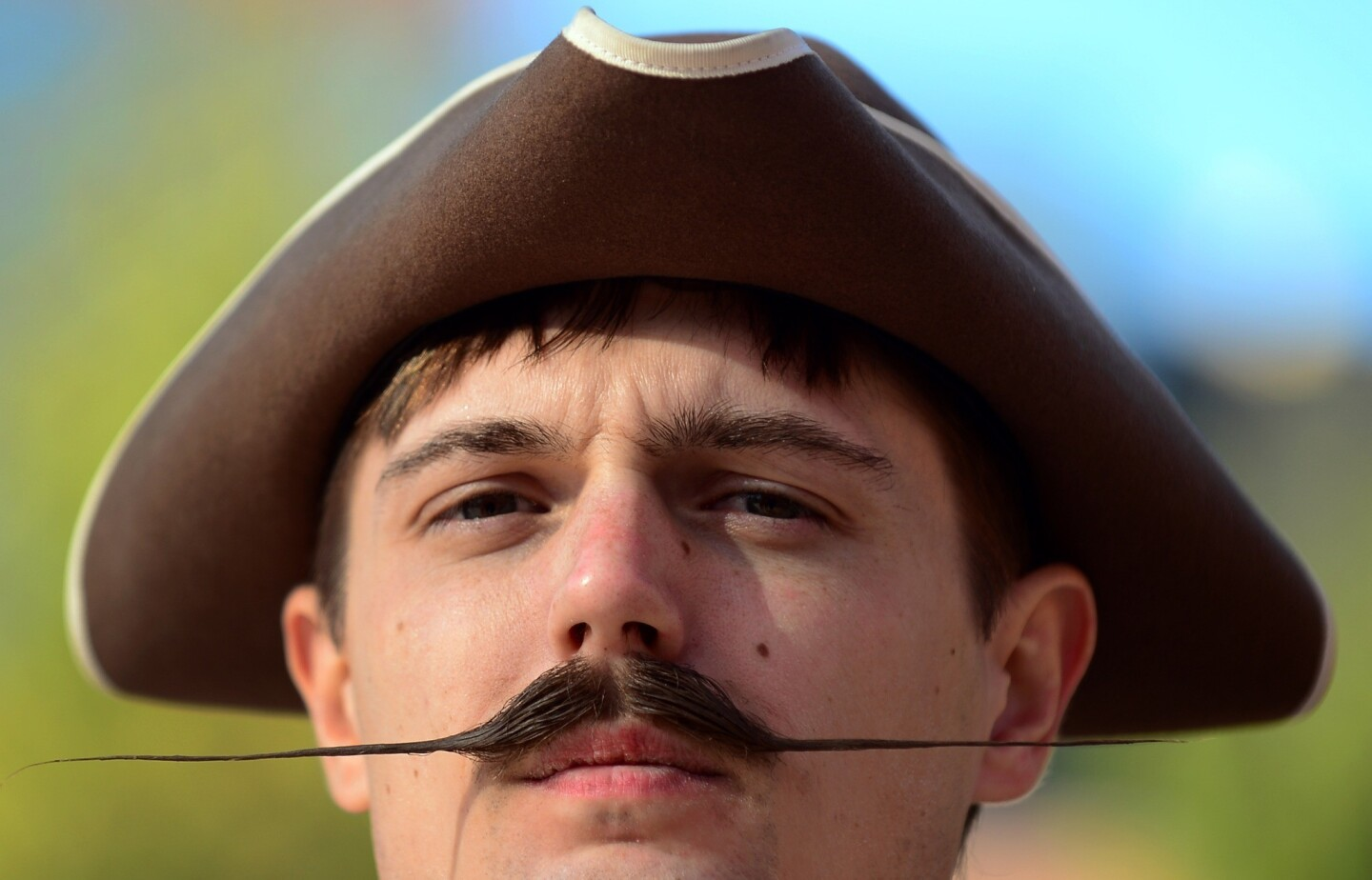 Patrick Fette from Louisville, Ky., took first place in the English mustache category.
