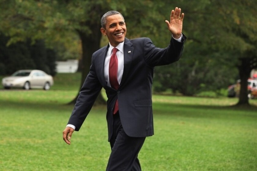 President Obama, seen at the White House in October, gained 1 pound since his last physical, putting him at 181. (He is 6 foot 1.)
