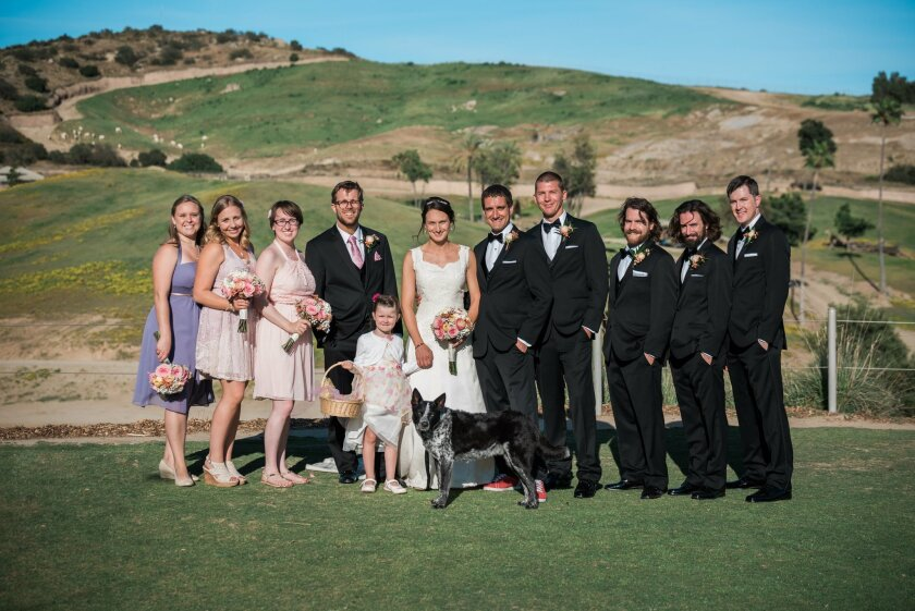 The wedding party at the Safari Park.