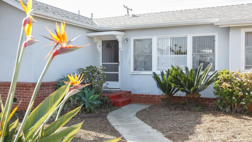 The newly opened Moishe House on Myers Street in Oceanside is an older three-bedroom home between the beach and train tracks. It has an open-door policy for visitors.