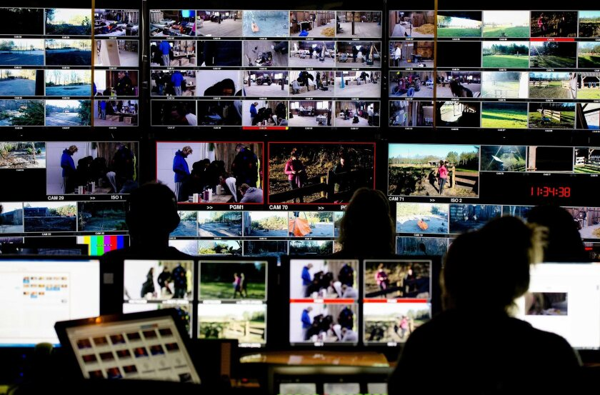 """John de Mol's """"Utopia"""" is a hit in the Netherlands, and now Fox's head of alternative entertainment, Simon Andreae, is overseeing the creation of a U.S. version for the network. This is a look inside the Laren, the Netherlands, control room of De Mol's reality series."""