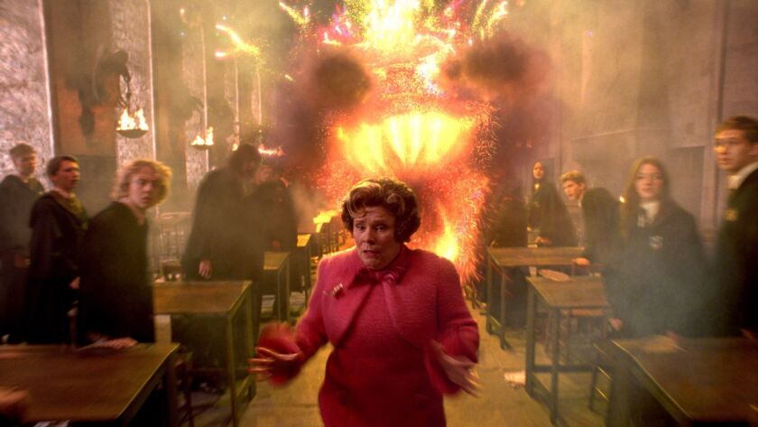 """Imelda Staunton as Dolores Umbridge in Warner Bros. Pictures' """"Harry Potter and the Order of the Phoenix."""""""