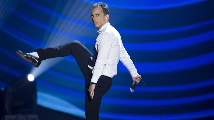 Sebastian Maniscalco performs at the Beacon Theater for his Showtime special.