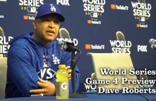 Dave Roberts previews Game 4 of the World Series