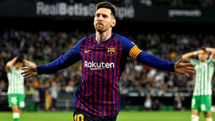 Real Betis vs FC Barcelona, Seville, Spain - 17 Mar 2019