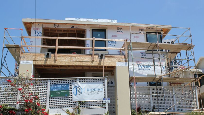 This 'remodel,' underway at a single-family residence on Fay Avenue, includes 'demolition, addition