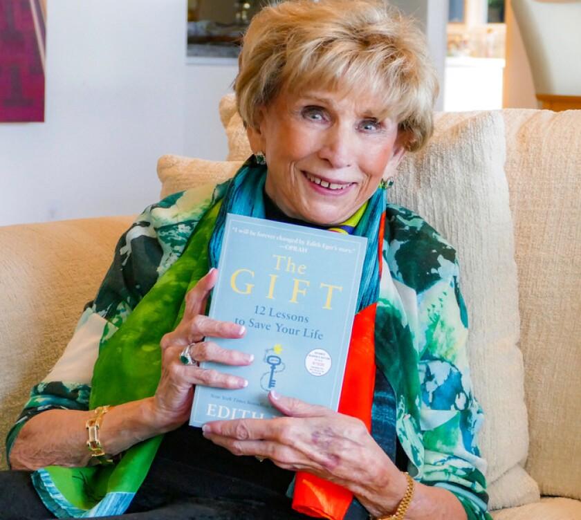 "La Jollan Edith Eger, a Holocaust survivor and clinical psychologist, has written her second book, ""The Gift."""
