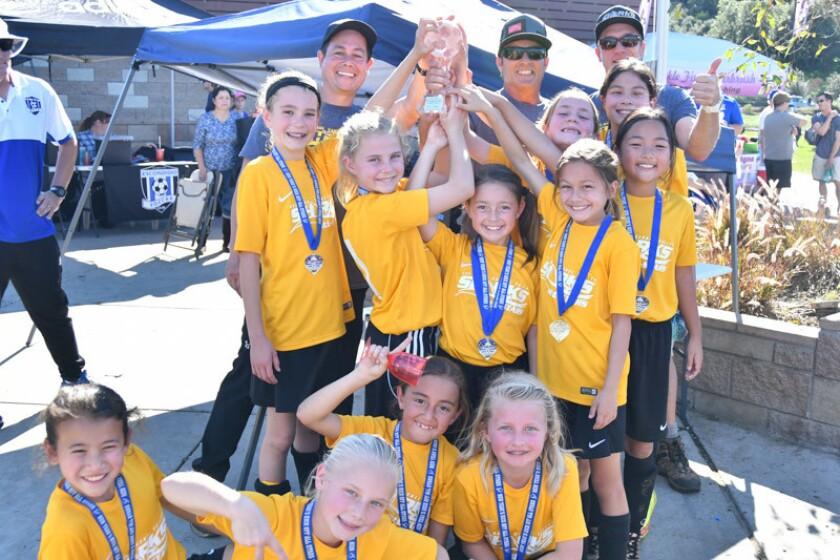 Del Mar Carmel Valley Sharks All Stars Girls Under 10 Blue soccer team