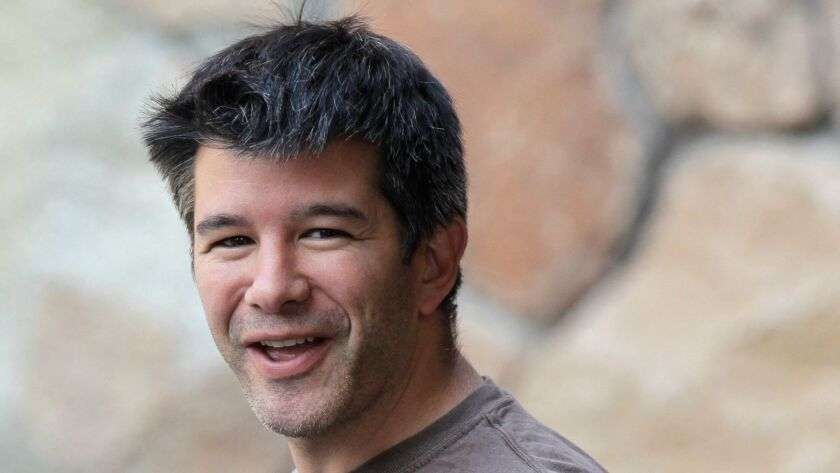 FILE - In this July 10, 2012 file photo, Uber CEO and co-founder Travis Kalanick arrives at a confer