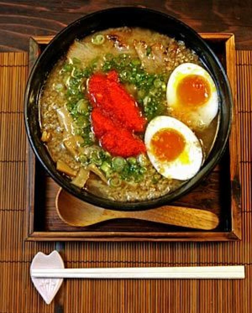 SOUP'S ON: A kotteri shoyu ramen bowl.