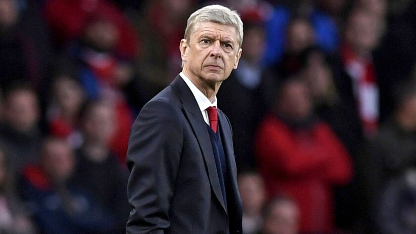Arsenal manager Arsene Wenger watches his club take on Leicester City in London last weekend.