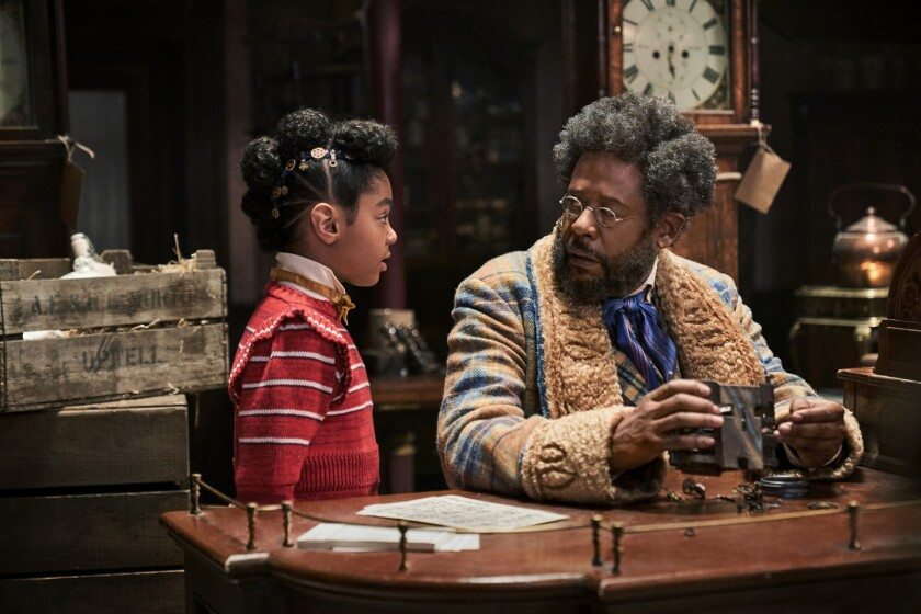 """Madalen Mills and Forest Whitaker in the movie """"Jingle Jangle: A Christmas Journey."""""""