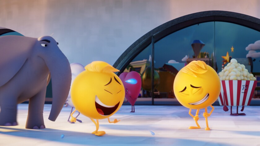 """A scene from the animated film """"The Emoji Movie."""""""