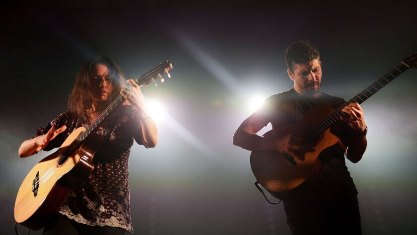 Mexican guitar duo Rodrigo y Gabriela plays a pair of shows at the Hollywood Bowl backed by the LA Phil.