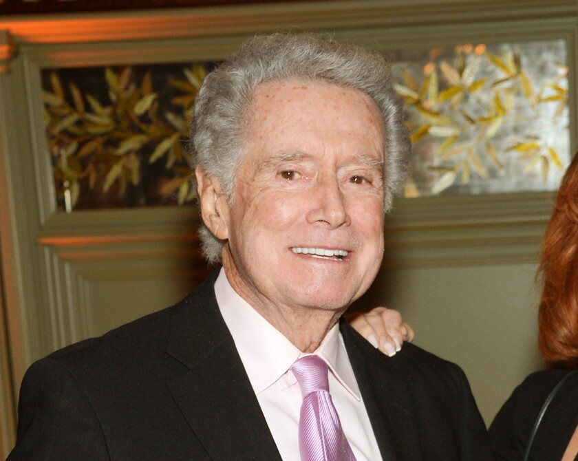 """Regis Philbin ttends the """"The Imitation Game"""" premiere party in New York on Nov. 17, 2014."""