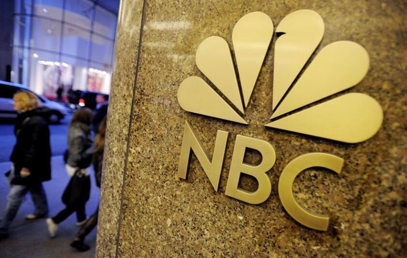 Fotografía de archivo fechada el pasado 3 de diciembre de 2009 que muestra el logotipo de la cadena NBC en Nueva York, Estados Unidos. EFE/Archivo