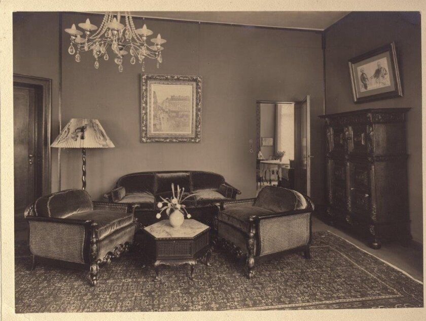 Pissaro painting hanging in Lilly Cassirer Neubauer's apartment in Germany before it was confiscated by the Nazis.