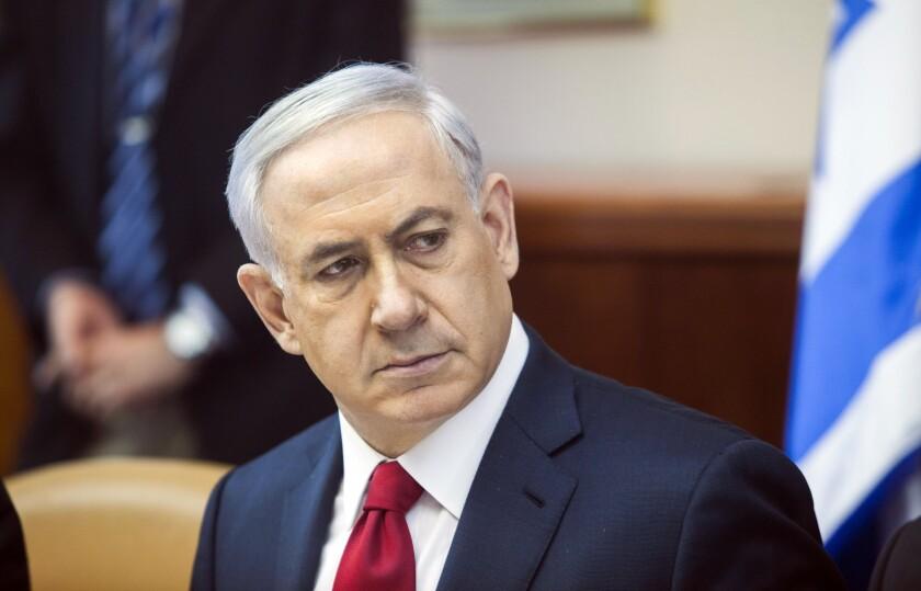 Israeli Prime Minister Benjamin Netanyahu in his Jerusalem office Nov. 9, 2014.