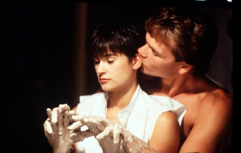 """Patrick Swayze and Demi Moore in """"Ghost."""""""