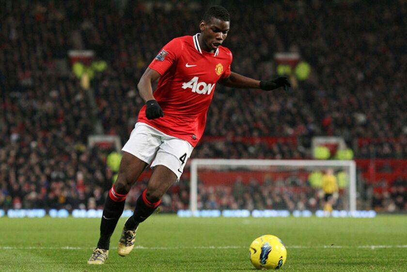 Paul Pogba, delantero francés del Manchester United.