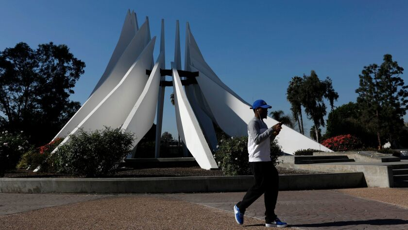 COMPTON, CALIF. -- THURSDAY, FEBRUARY 1, 2018: The King Memorial at the Civic Center Plaza in Compto
