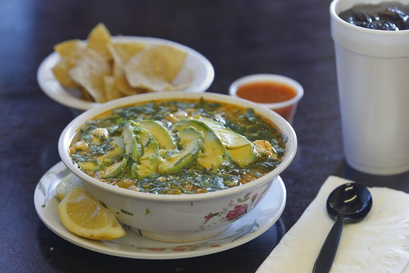 May 10th, 2013, Escondido, California, USA. | This is the famous chicken soup from Lourdes Mexican Food on Friday in Escondido, California. | _Mandatory Credit: photo by Eduardo Contreras/UT San Diego/Zuma Press. copyright 2013 UT San Diego