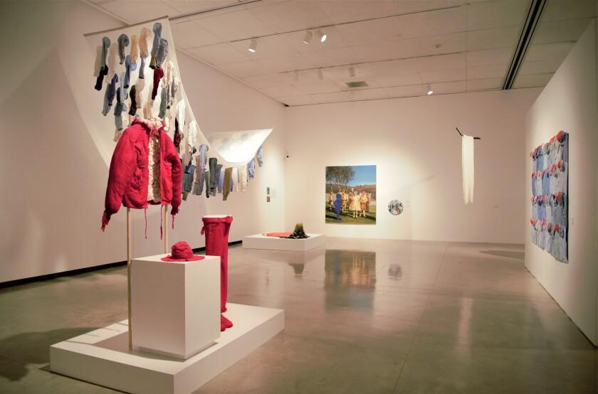 An installation view of Irma Sofia Poeter's 25-year retrospective at CECUT in Tijuana.