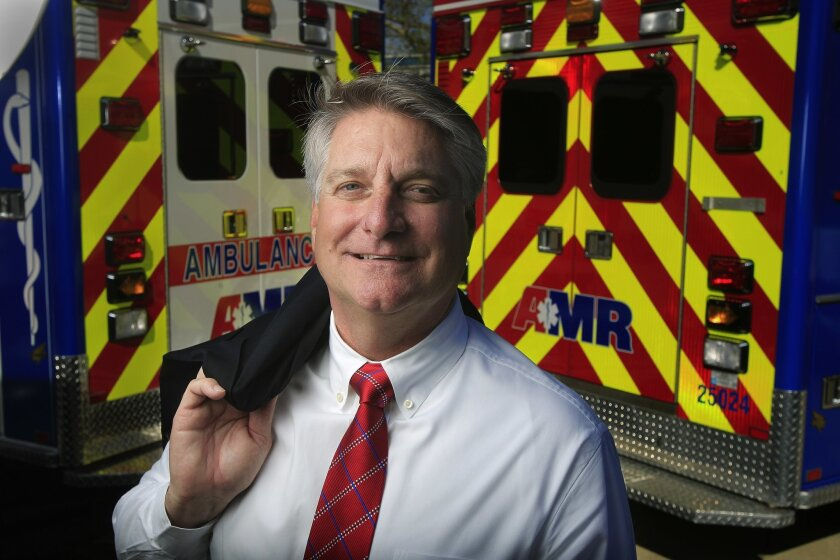 Mike Murphy, general manager of American Medical Response, San Diego.