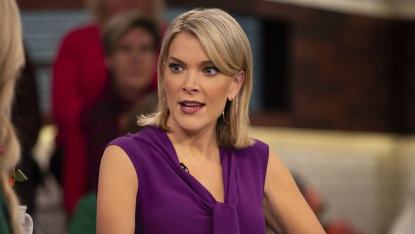 """In this Oct. 18, 2018 photo released by NBC, host Megyn Kelly appears on her show """"Megyn Kelly Today"""
