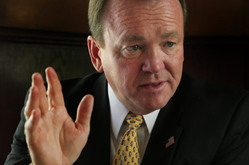 Los Angeles County Sheriff-elect Jim McDonnell will be officially sworn into office during a Monday afternoon ceremony at the county's Hall of Administration.