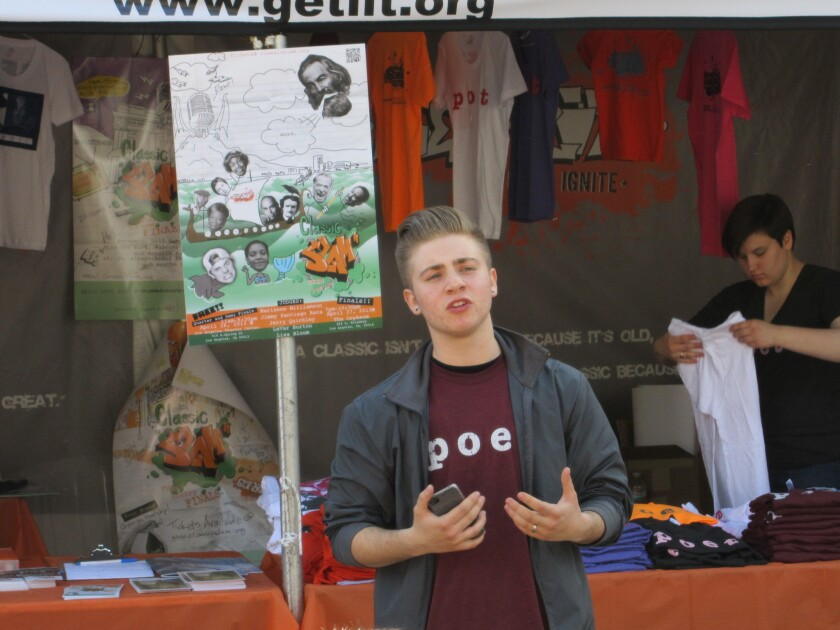 Teens and the freedom of the spoken word at the Get Lit booth