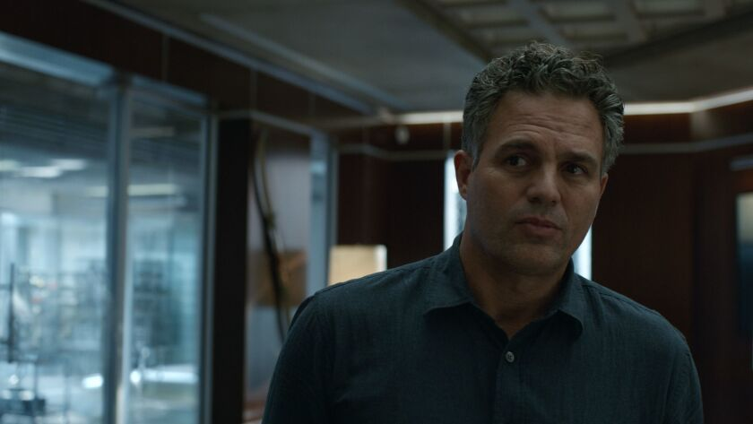 "Mark Ruffalo in the movie ""Avengers: Endgame."""