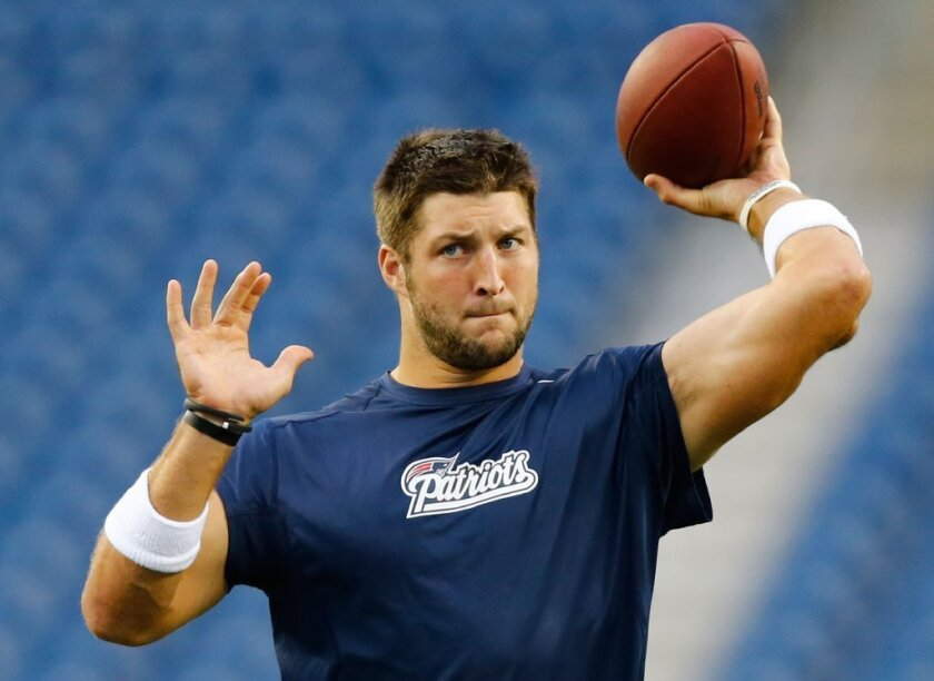 In his new job, Tim Tebow will analyze football games, not play in them.