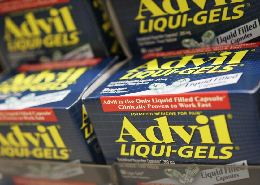 Boxes of Advil for sale
