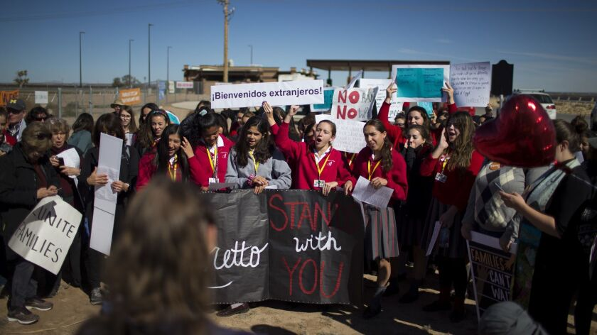 In this Nov. 15, 2018 photo provided by Ivan Pierre Aguirre, students from a local Catholic school p