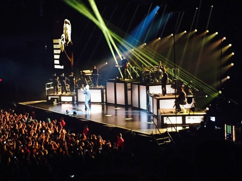 Sam Smith performed at the Valley View Casino Center on Tuesday, Aug. 11, 2015.